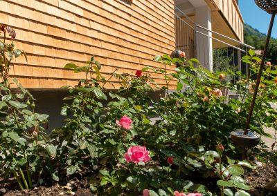 Blumen vor dem Willihof